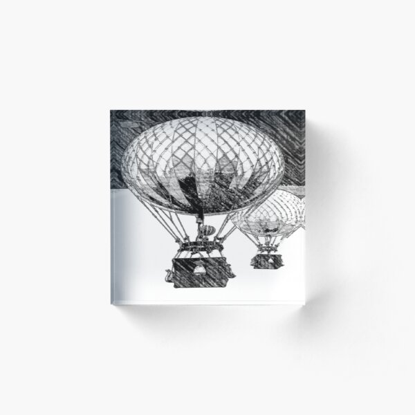 Hot Air Balloon Acrylic Block