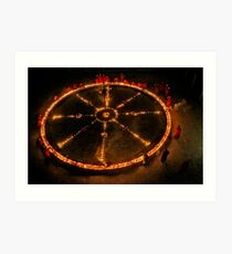 Dharma Wheel Puja Art Print