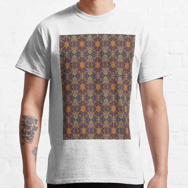 Pattern, design, tracery, weave, periodic pattern, symmetry, #pattern, #design, #tracery, #weave, #symmetry, #PeriodicPattern Classic T-Shirt
