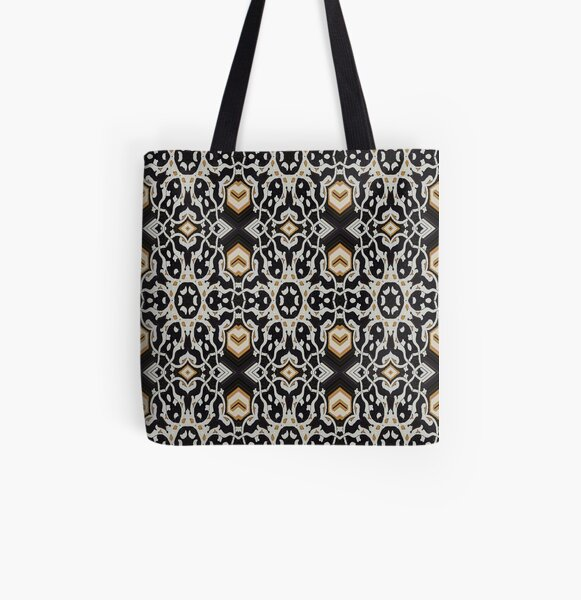 Pattern, design, tracery, weave, periodic pattern, symmetry, #pattern, #design, #tracery, #weave, #symmetry, #PeriodicPattern All Over Print Tote Bag