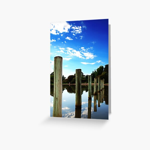 7 posts to the water Greeting Card