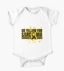 Go Yellow for Sarcoma Awareness Month (Alternate Version) One Piece - Short Sleeve