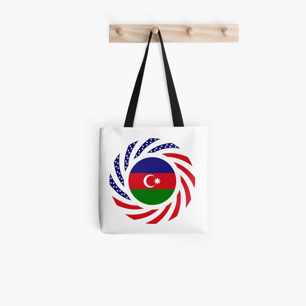 Azerbaijani American Multinational Patriot Flag Series Tote Bag