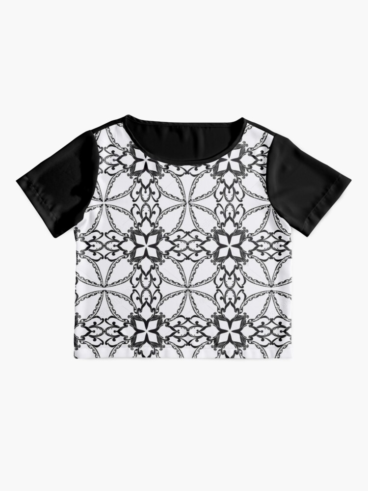 Alternate view of Pattern, design, tracery, weave, periodic pattern, symmetry, #pattern, #design, #tracery, #weave, #symmetry, #PeriodicPattern Chiffon Top