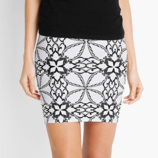 Pattern, design, tracery, weave, periodic pattern, symmetry, #pattern, #design, #tracery, #weave, #symmetry, #PeriodicPattern Mini Skirt