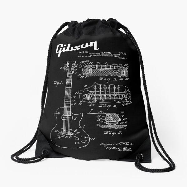 Guitar Gibson Les Paul Patent White Drawstring Bag