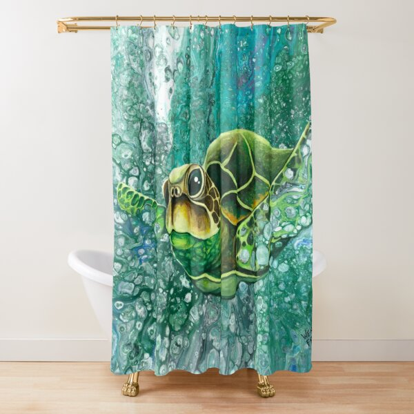 Sea Turtle - Deep Sea Dive Shower Curtain