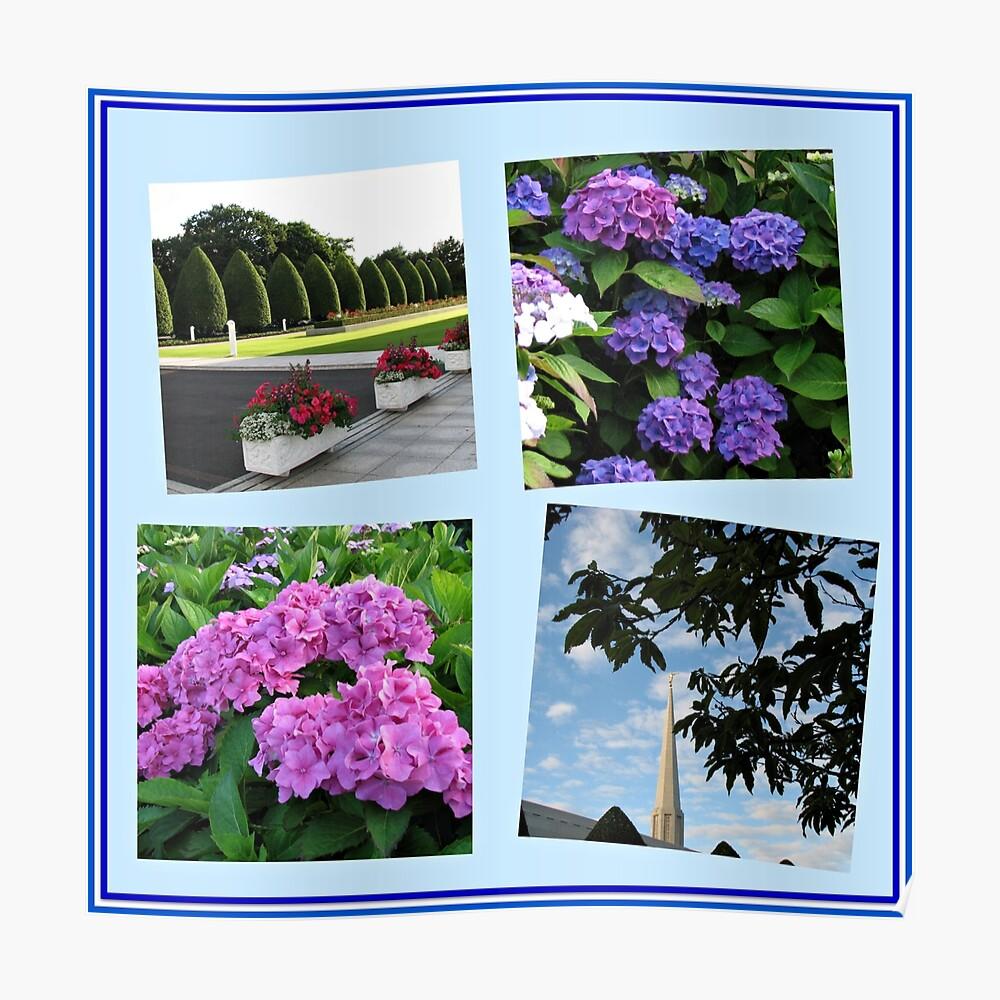 Hoher Sommer an der Preston-Tempel-Collage Poster