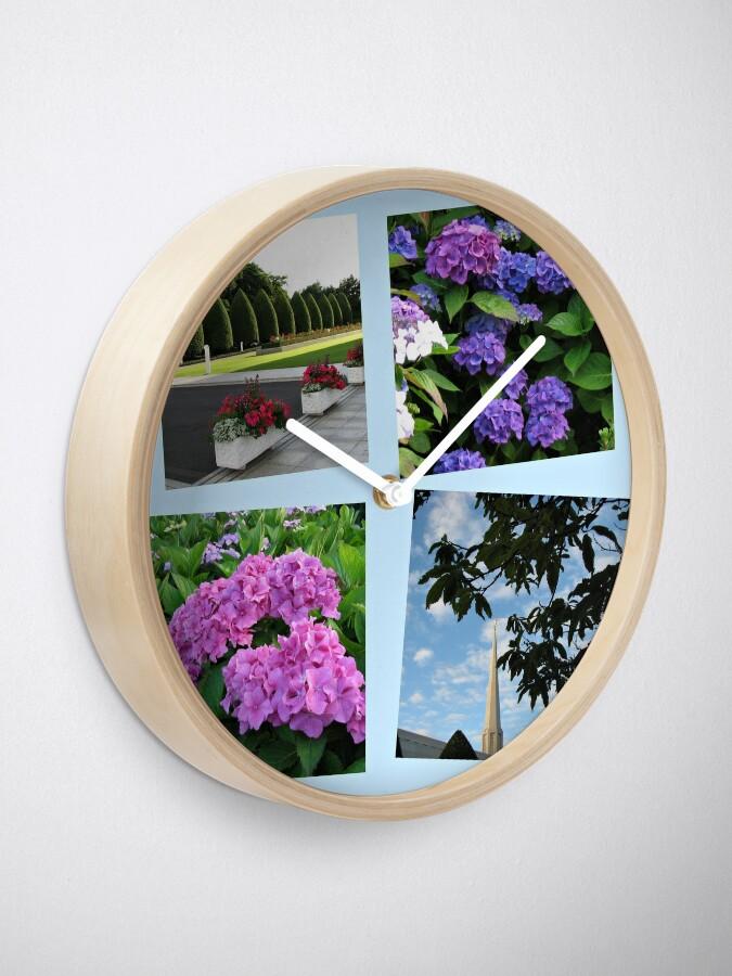 Alternative Ansicht von Hoher Sommer an der Preston-Tempel-Collage Uhr