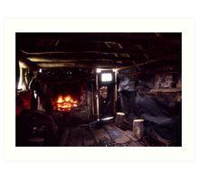 Inside Wallace's hut Art Print