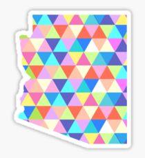 Arizona Colorful Hipster Geometric Triangles Sticker