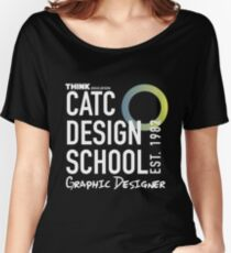 CATC Design School White Writing Women's Relaxed Fit T-Shirt