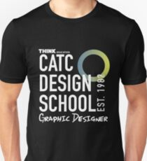 CATC Design School White Writing T-Shirt