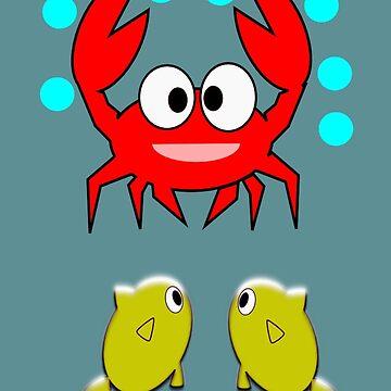 crab & 2 fish (7728 Views) by aldona