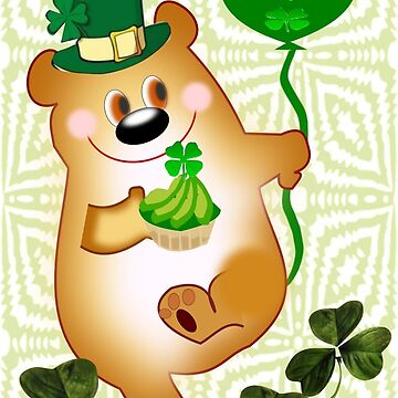 Teddy With St. Patrick's Greeting (1830 Views) by aldona