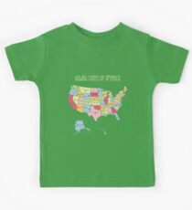 Kawaii States of America Kids T-Shirt