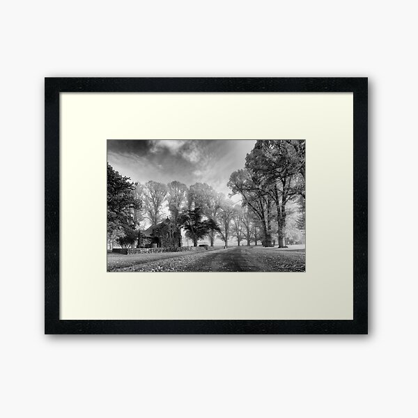 Gostwyck Chapel - BW Framed Art Print