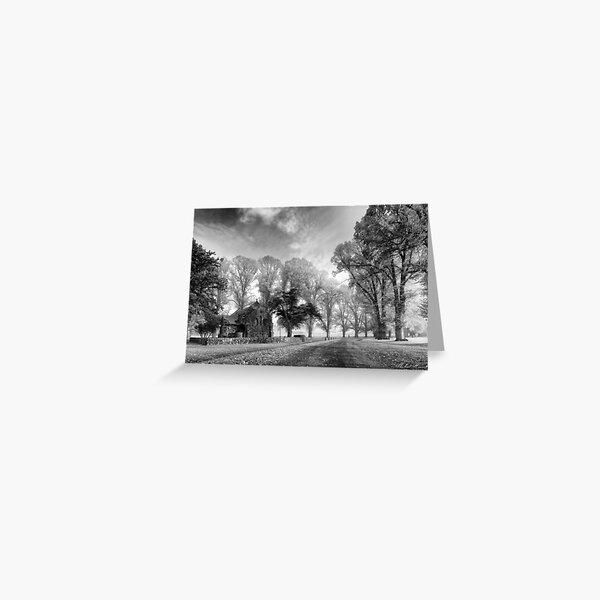 Gostwyck Chapel - BW Greeting Card