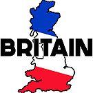 BRITAIN TRAVEL LUGGAGE STICKER by BYRON