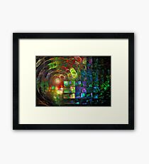 'When Light Meets Illusion' Framed Print