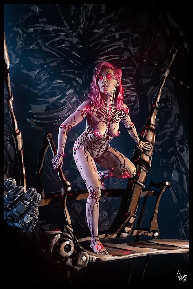 Cyberpunk Painting 091 by Ian Sokoliwski
