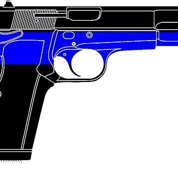 Thin Blue Line/Blue Lives Matter Handgun by cstronner