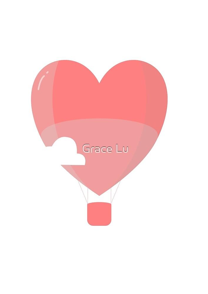 Herz Luftballon von Grace Lu