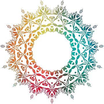 Abstract rainbow mandala  by AdiDsgn