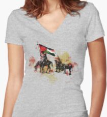 don quichote & sancho panza Women's Fitted V-Neck T-Shirt