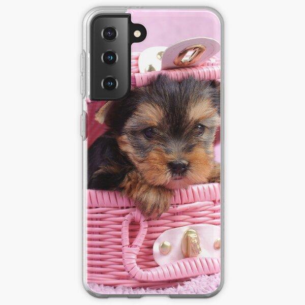 Pink yorkie Samsung Galaxy Soft Case