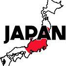 JAPAN TRAVEL LUGGAGE STICKER by BYRON