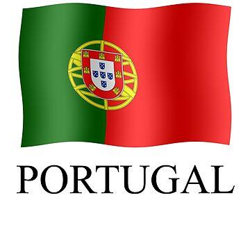 Portuguese flag waving by stuwdamdorp