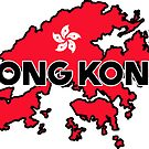 HONG KONG TRAVEL LUGGAGE STICKER by BYRON
