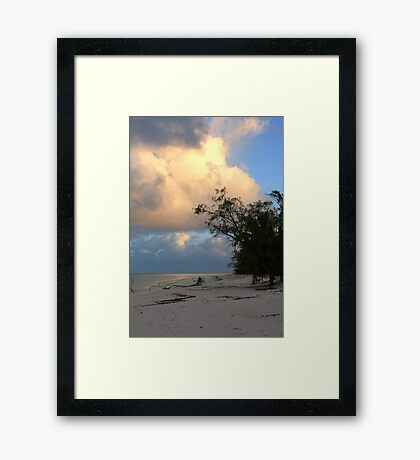 Aldabra Atoll at dawn Framed Print