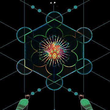 Sacred Geometry Egyptian Psychedelic Ayahusca Vision by Rahimseven