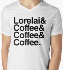 Lorelai & Coffee & Coffee & Coffee - black text Men's V-Neck T-Shirt