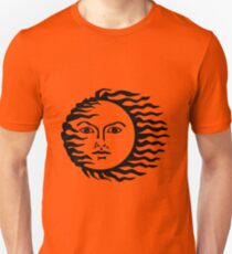 Sun with face - sun with a bad face Unisex T-Shirt