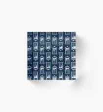 Whovian Print Acrylic Block