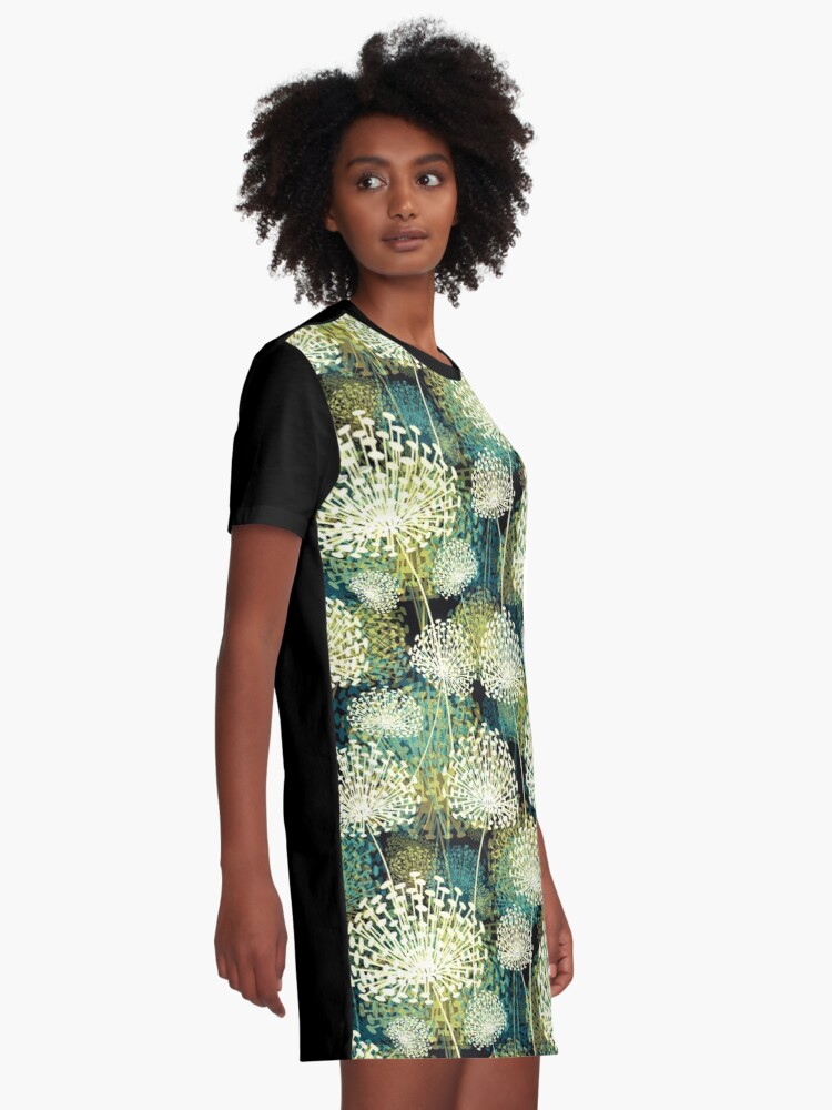 Alternate view of Dandelions Graphic T-Shirt Dress