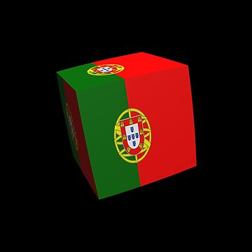 Portuguese flag cubed by stuwdamdorp