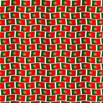 Portuguese flag tiled pattern by stuwdamdorp
