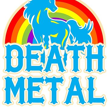 Death Metal unicorn Tshirt by CrazyWebs