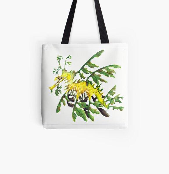 Watercolour Leafy Seadragon All Over Print Tote Bag