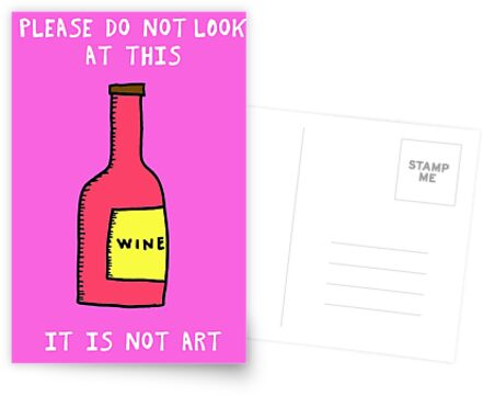 IT IS NOT ART - Wine Bottle by stevexoh