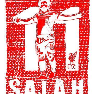 Mohamed Salah - Liverpool FC (Red on Dark) #2 by TurboCake