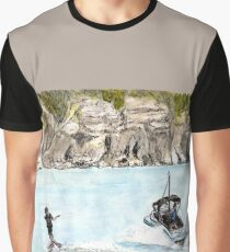 Skiing on the Murray River, Holder Bend, Waikerie, SA, Aus. Graphic T-Shirt