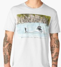 Skiing on the Murray River, Holder Bend, Waikerie, SA, Aus. Men's Premium T-Shirt