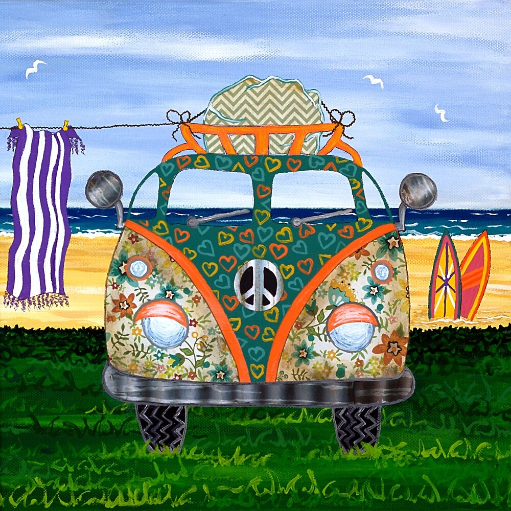 Hippy Van Green by Lisafrancesjudd