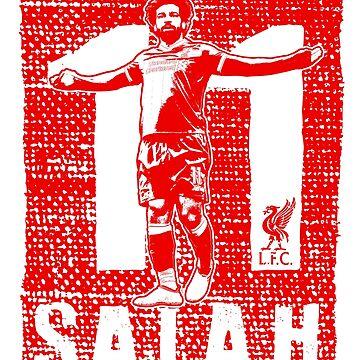 Mohamed Salah - Liverpool FC (Red Print) #2 by TurboCake