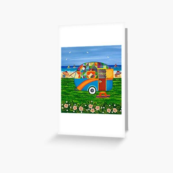 Caravan Holiday ~ Bobby-Ray Greeting Card